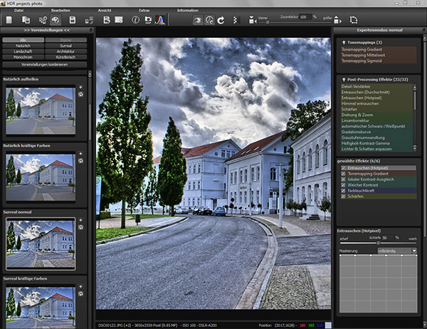Screenshot HDR Projects Photo